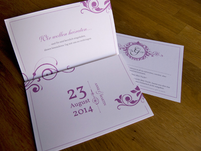 A&M creative wedding invitations