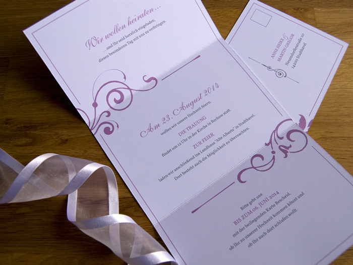 A&M elegant wedding invitaitons