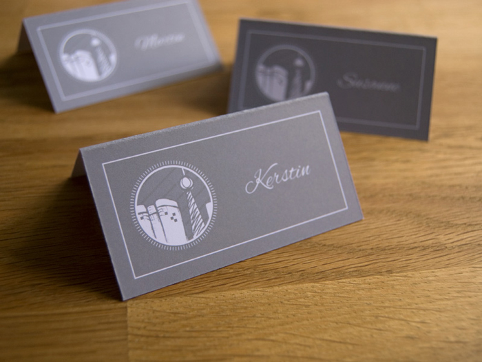 K&J custom wedding place cards
